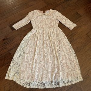 Dainty Jewell lace dress.